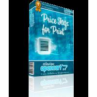 Печать товарных ценников - Price Tags for Print v.1.1